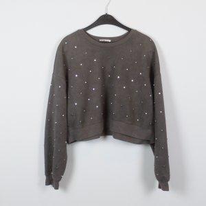 ZARA Sweatshirt Gr. M braun Nietenbesatz cropped (18/10/445)