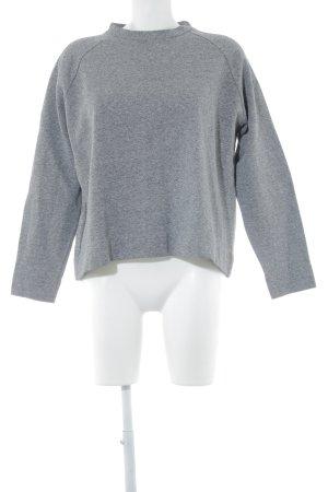 Zara Sweatshirt grau meliert Casual-Look