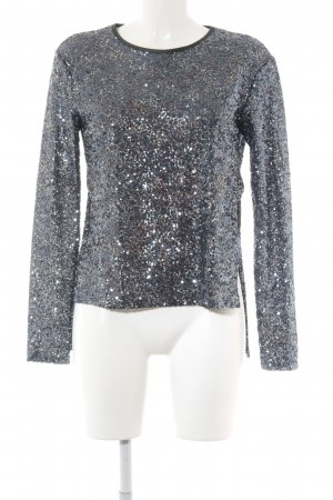 Zara Sweatshirt graublau-silberfarben Galaxymuster extravaganter Stil