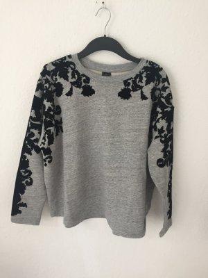 Zara Sweatshirt mit Samt Blüten Details