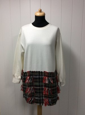 Zara Sweatshirt mit Tweed Oversized