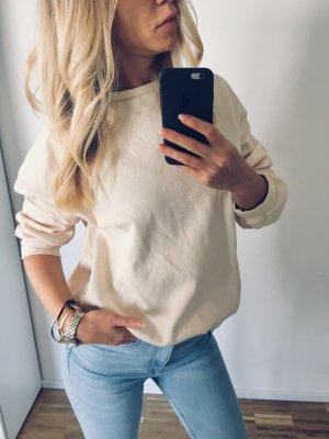 Zara Sweatshirt S 36 Beige Lässig Pulli