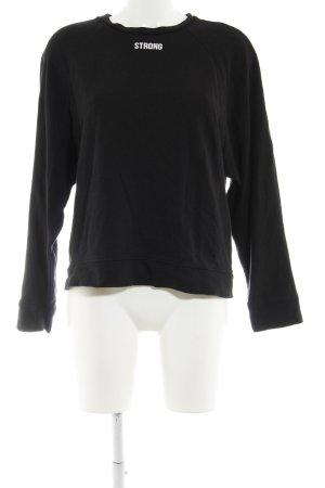 Zara Sweatshirt schwarz abstrakter Druck Casual-Look