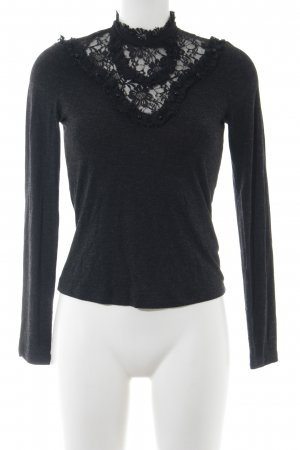 Zara Sweatshirt schwarz-anthrazit meliert Casual-Look