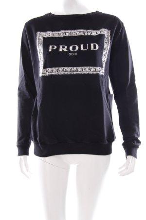 Zara Sweatshirt schwarz Schriftzug gedruckt