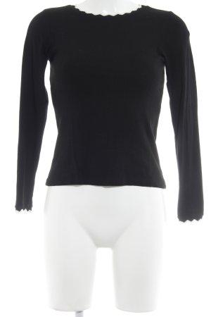 Zara Sweatshirt schwarz-weiß Casual-Look