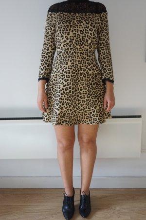Zara Swing-Kleid mit Leopardenmuster
