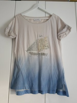 Zara t-shirt 38 mit Boot hellblau