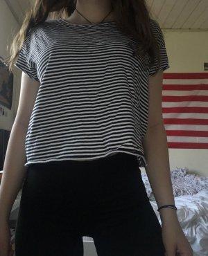 Zara Camiseta blanco-azul oscuro