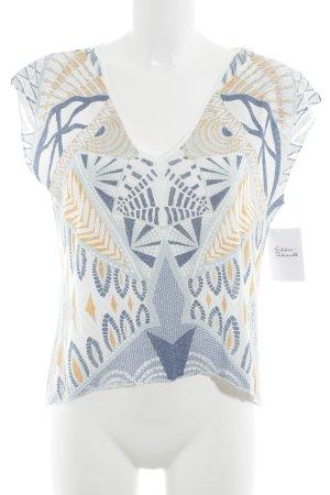 Zara T-shirt motif abstrait style décontracté