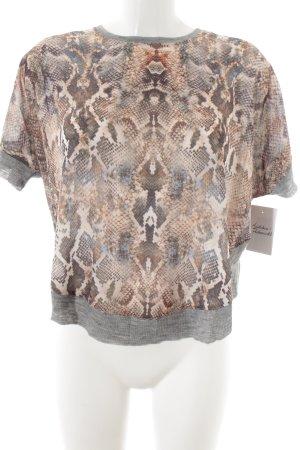Zara T-Shirt Animalmuster Street-Fashion-Look