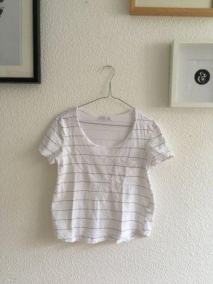 ZARA / T-Shirt / Blau gestreift