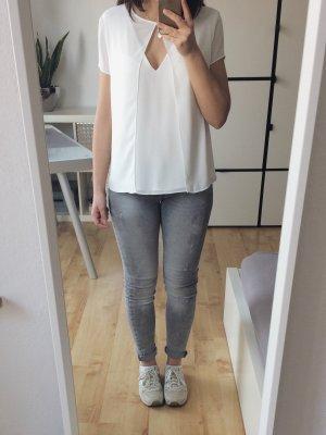 ZARA T-Shirt Bluse Shirt creme offwhite Größe XS