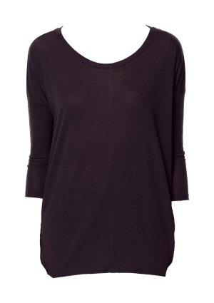 Zara T-Shirt Collection braun Shirt mit Dreiviertelarm XS/S Lyocell