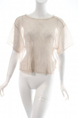 Zara T-Shirt creme Netz-Optik