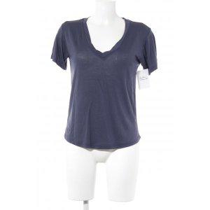 Zara T-Shirt dunkelblau Casual-Look