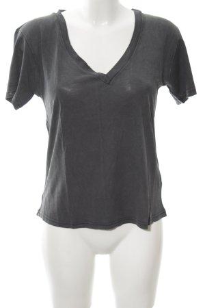 Zara T-Shirt dunkelgrau Casual-Look