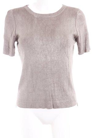 Zara T-Shirt goldfarben Webmuster Elegant