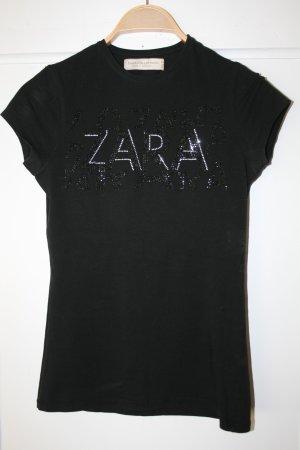 Zara Camiseta negro