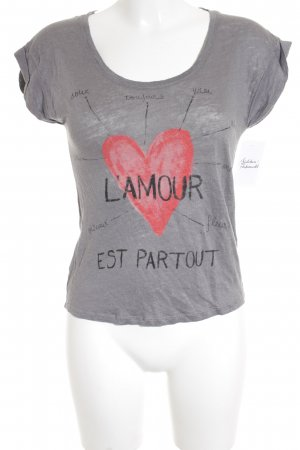 Zara T-Shirt grey inside-out print simple style