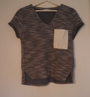 Zara V-hals shirt veelkleurig Gemengd weefsel