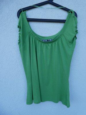 Zara  – T-Shirt, grün – Gebraucht, fast wie neu