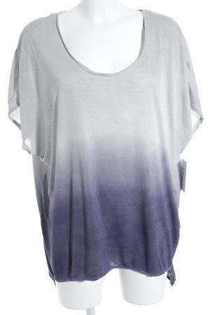Zara T-Shirt hellgrau-lila Farbverlauf Gr. M (40) oversized Schnitt