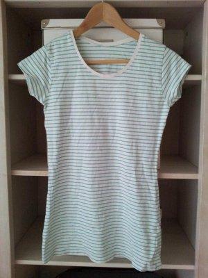 Zara T-Shirt in M, Türkis/Mintgrün/Weiß, Streifen/Ringelmuster