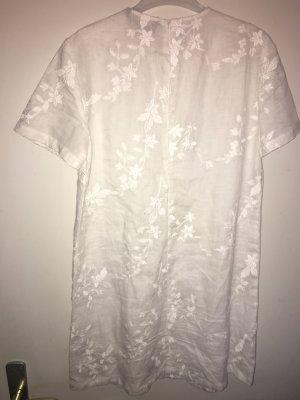 Zara Woman Vestido estilo camisa blanco