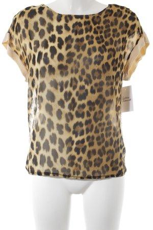 Zara T-Shirt Leomuster Animal-Look