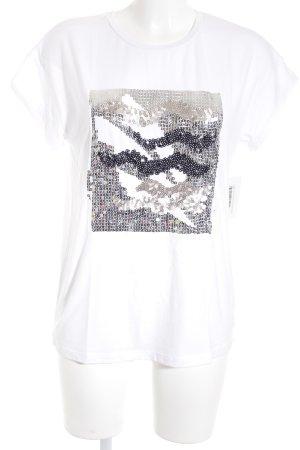Zara T-Shirt mehrfarbig minimalistischer Stil
