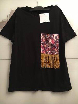 Zara Haut noir-rouge brique