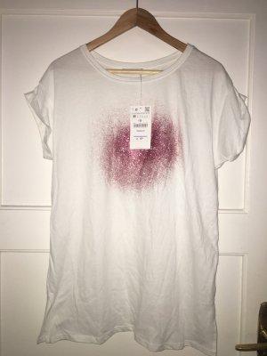 ZARA T-Shirt mit Glitzer