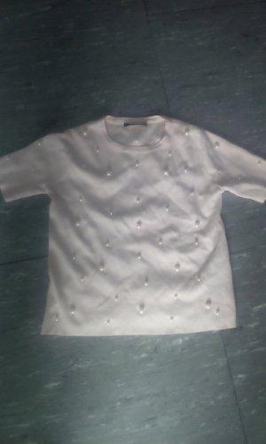 Zara T-Shirt mit Perlen neu