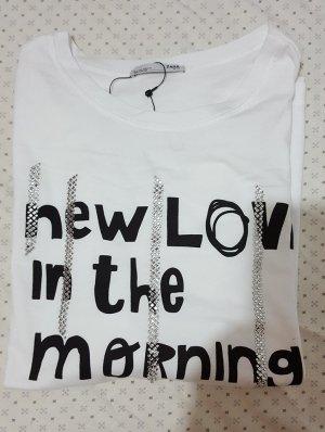 zara T-shirt mit schriftzug
