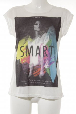 Zara T-Shirt Motivdruck Casual-Look