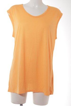 Zara T-shirt orange fluo style décontracté