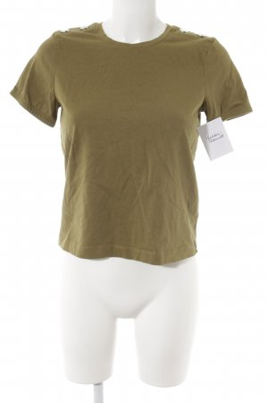 Zara T-Shirt olivgrün Casual-Look