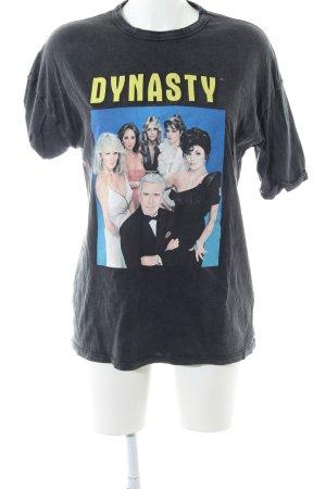 Zara T-Shirt platzierter Druck Casual-Look