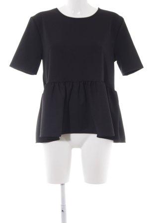 Zara T-Shirt schwarz Elegant