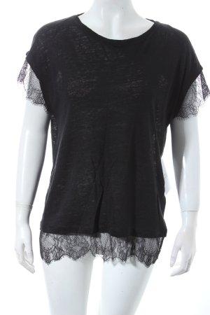 Zara T-Shirt schwarz Street-Fashion-Look