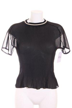 Zara T-Shirt schwarz-weiß Elegant