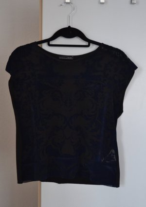 Zara T-Shirt Top aus Samt cropped Gr. M