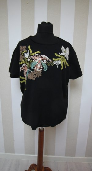 ZARA T-SHIRT TOP BLUMEN CHIC