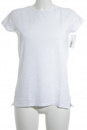 Zara T-shirt blanc motif floral style classique
