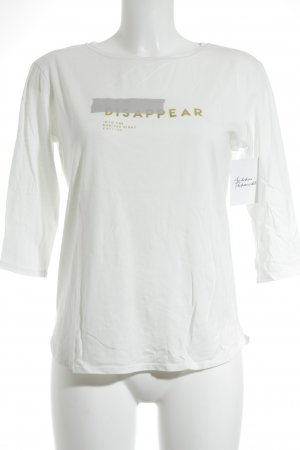 Zara T-Shirt weiß-goldfarben Casual-Look