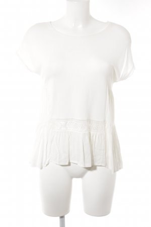 Zara T-shirt blanc cassé style romantique