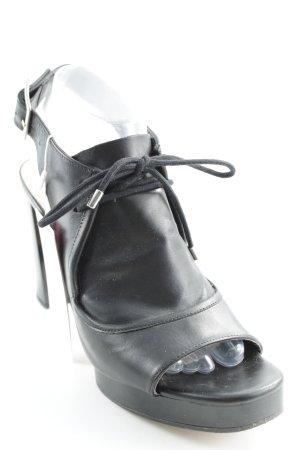 Zara T-Steg-Pumps schwarz extravaganter Stil