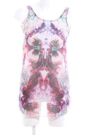 Zara Tanktop abstraktes Muster Casual-Look