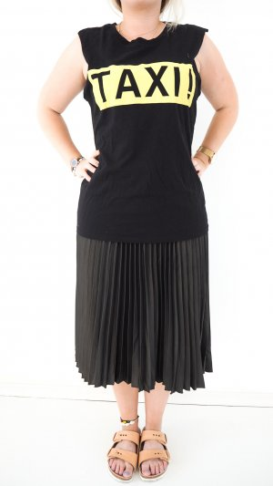 Zara Camicia fantasia nero-giallo pallido Cotone